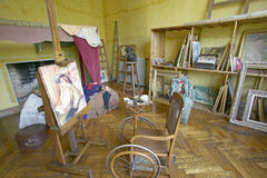 Art Studio of Auguste Renoir at his home, Les Colettes, Musee Renoir, Cagnes-Sur-Mer, France royalty free stock image