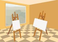 Art studio interior Stock Image
