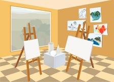 Art studio interior Royalty Free Stock Photography