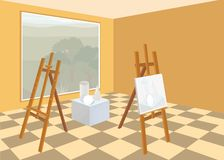 Art studio interior Royalty Free Stock Image