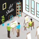 Art Studio Isometric Illustration Photos libres de droits