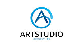 Art Studio Logo. Minimalist and modern letter logo template. Simple work and adjusted to suit your needs Stock Image