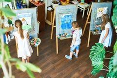 Art Studio ocupado Fotos de Stock Royalty Free