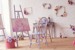 Art studio space Royalty Free Stock Photography
