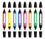 Art Studio Tools Felt Tip Pens Stock Photography