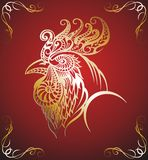 Art stylized rooster Royalty Free Stock Photo