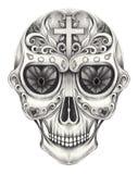 Art Sugar Skull Day of the dead. Stock Image