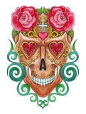 Art Sugar skull day of the dead. Royalty Free Stock Photography