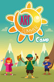 Art summer camp poster Stock Images