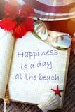 Art Summer tropical beach vacation; enjoy Paradise Stock Photo