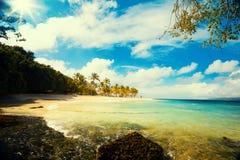 Art Summer-vakantie oceaanstrand Stock Afbeelding
