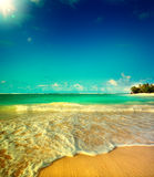 Art Summer-vakantie oceaanstrand Stock Afbeeldingen