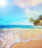 Art Summer-vakantie oceaanstrand Stock Foto's