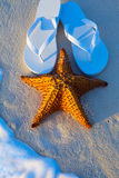 Art Summer-vakantie overzeese strandachtergrond royalty-vrije stock foto
