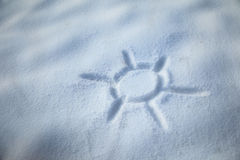 Art sun in the snow Royalty Free Stock Images