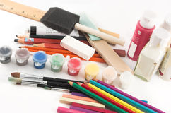 Art supplies... Royalty Free Stock Image