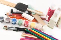 Art Supplies... Royalty Free Stock Image