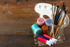 Art supplies Stock Image