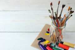 Art supplies Stock Photography