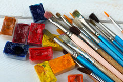 Art supplies Royalty Free Stock Image