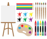 Art Supplies Clipart royalty-vrije stock foto's