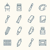 Art supplies icons Stock Photo