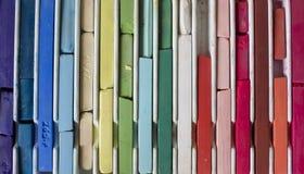 Art supplies, oil pastels Stock Images