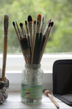 Art supplies Royalty Free Stock Images