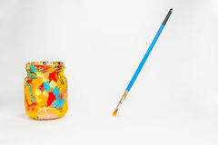 Art supplies for school students Stock Photo