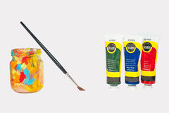Art supplies for school students paint tube Stock Photography