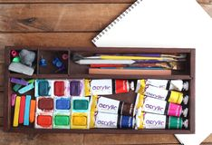 Art Supplies Royalty Free Stock Photo