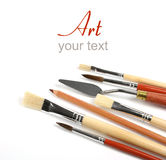 Art supplies on white Royalty Free Stock Images