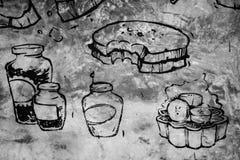 Art sur le mur Images stock