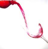 Art sur le verre de vin Images libres de droits
