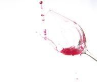 Art sur le verre de vin Photos libres de droits