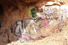Art sur les roches Images stock