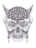 Art surreal devil skull. Stock Image