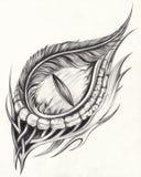 Art Surreal Eye Tattoo royaltyfri illustrationer