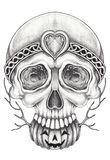 Art Surreal Fantasy Skull Illustration Stock