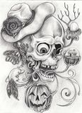 Art Surreal Fantasy Skull Photos stock