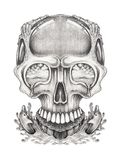 Art Surreal Fantasy Skull Illustration Libre de Droits