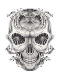 Art Surreal Fantasy Skull Tattoo illustration de vecteur