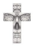 Art  surreal skull cross. Stock Photography