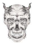 Art surreal skull. Royalty Free Stock Photos