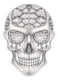 Art surreal skull. Royalty Free Stock Photo