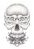 Art surreal skull. Stock Photos