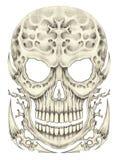 Art surreal skull tattoo. Stock Photography
