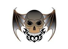 Art Surreal Wings Devil Skull-Tatoegering royalty-vrije illustratie