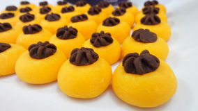 Art on sweet Thai dessert Stock Image