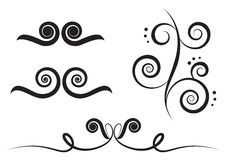 Art swirl. Swirl art elements for design and decorate isolated on the white background Stock Image